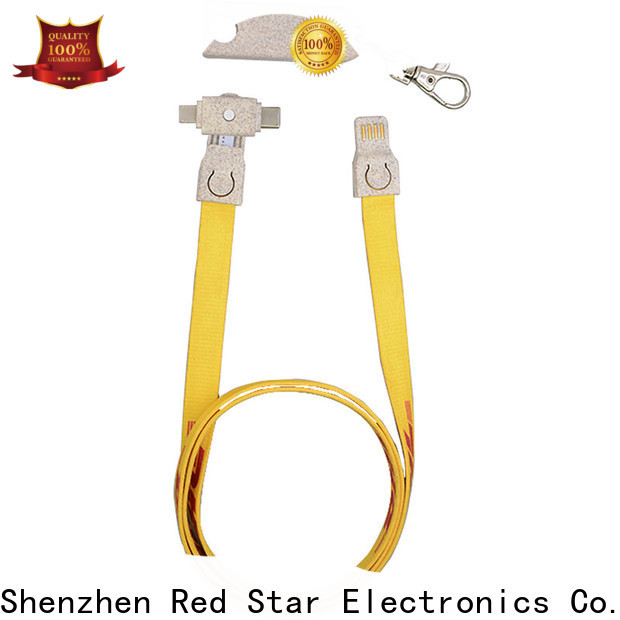 Red Star custom biodegradable charging cable manufacturers for sale