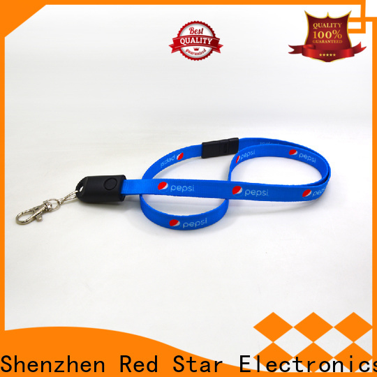 Red Star plastic lanyard data cable with easy breakaway for work