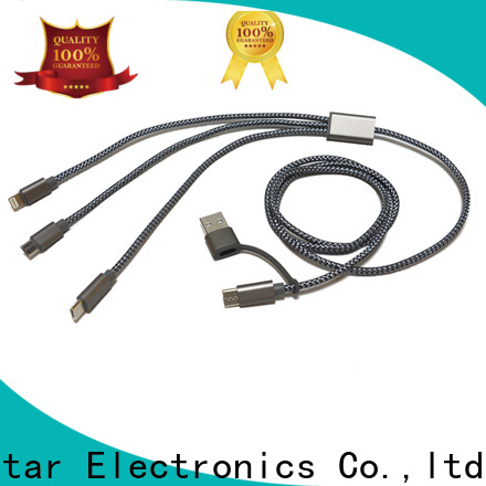 Red Star fast charge multi pin charging cable with custom logo for sale