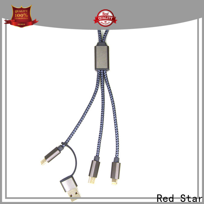 Red Star sync usb cable with custom logo for sale