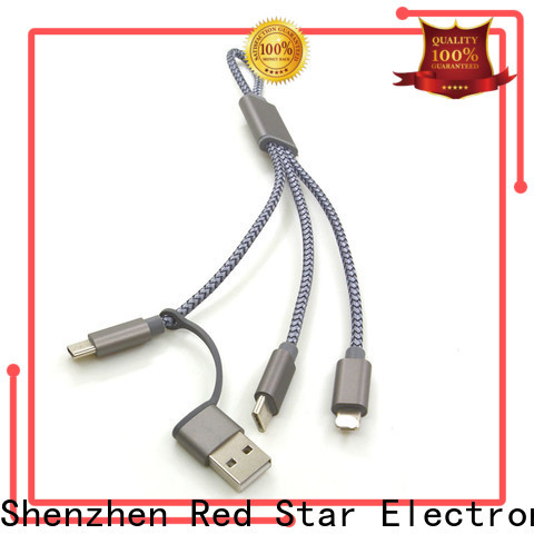 Red Star lanyard charger cable with easy breakaway for business