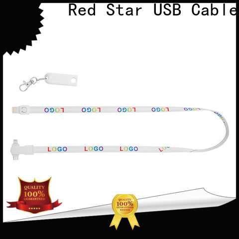 polyester charging cable lanyard company for work