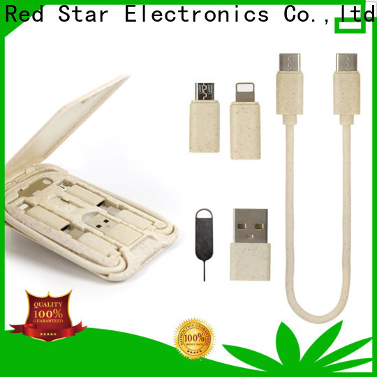 Red Star high-quality eco usb charger with custom logo for sale