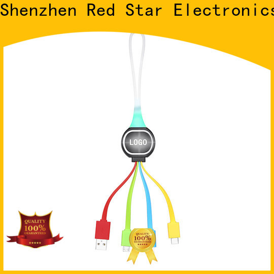 Red Star keychain multi pin usb charger cable supply for phone