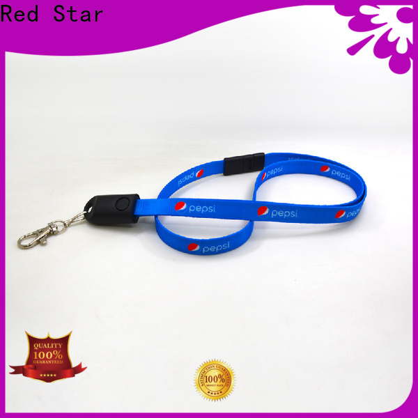 polyester lanyard charger cable with custom logo for phone