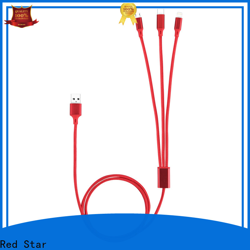 Red Star wholesale usb splitter cable with custom logo for sale