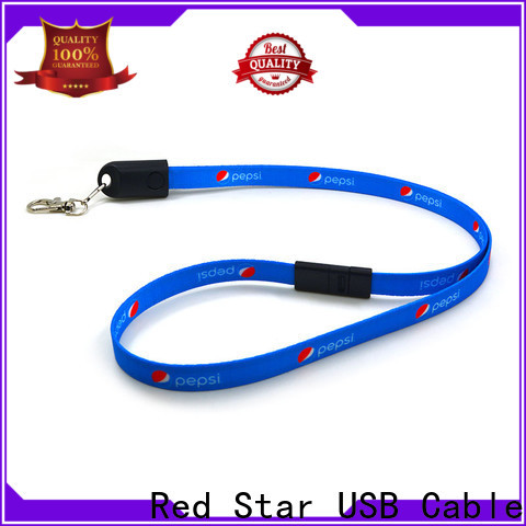 top charging cable lanyard with safety lock for work
