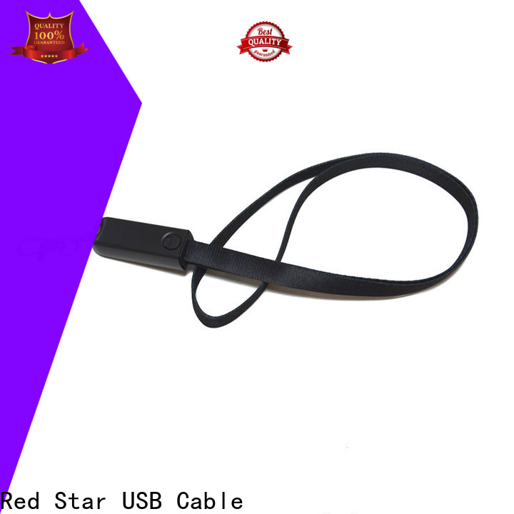 Red Star charging cable lanyard supply for business