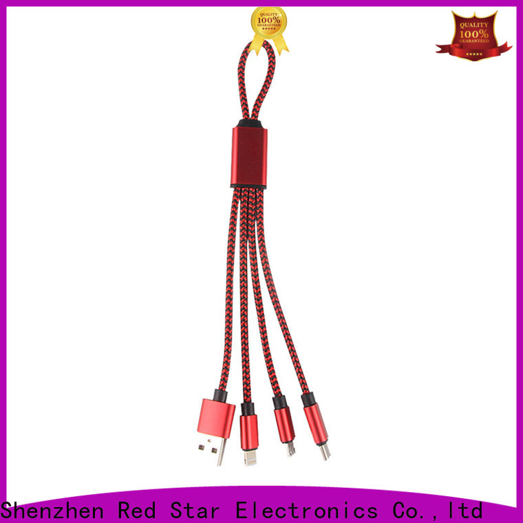 keychain multiple usb cable with custom logo for business