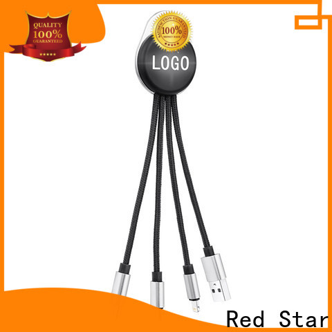 Red Star multi micro usb with custom logo for business