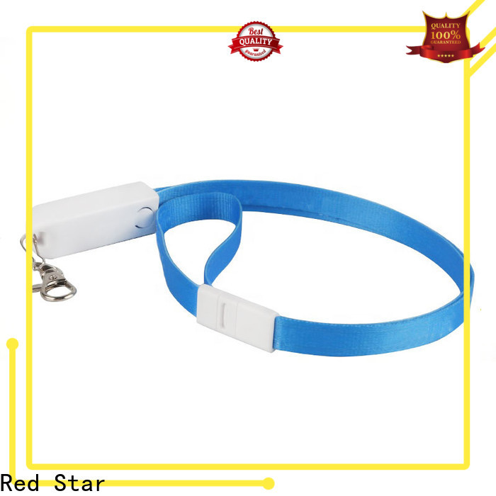 Red Star lanyard charger cable supply for business