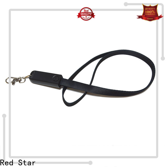 Red Star promotional lanyard charger cable company for work