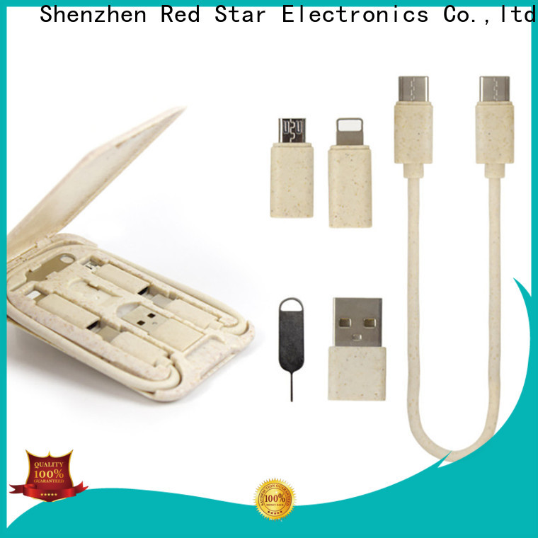 Red Star new biodegradable charging cable supply for phone