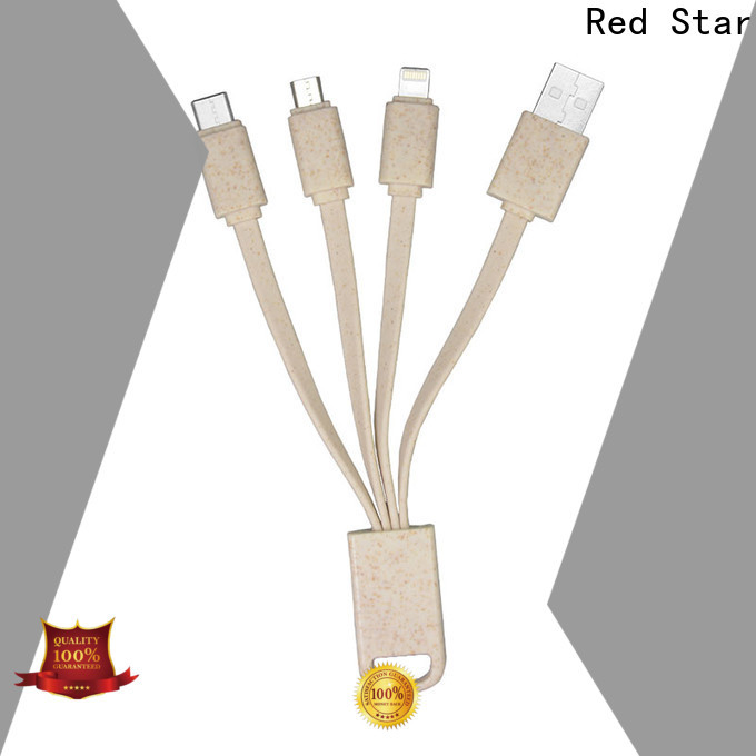 wheat straw eco lanyard cable factory for business