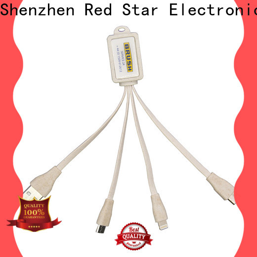 Red Star eco usb charger with custom logo for phone