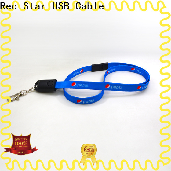 Red Star best lanyard charger cable manufacturers for business