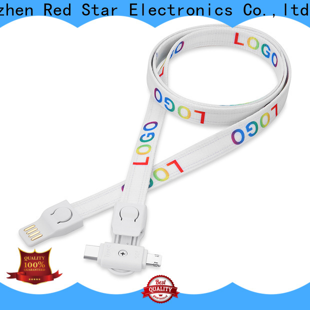 Red Star lanyard usb charging cable supply for sale