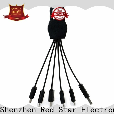 Red Star custom multi end charging cable manufacturers for phone