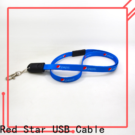 custom lanyard charger cable with custom logo for sale