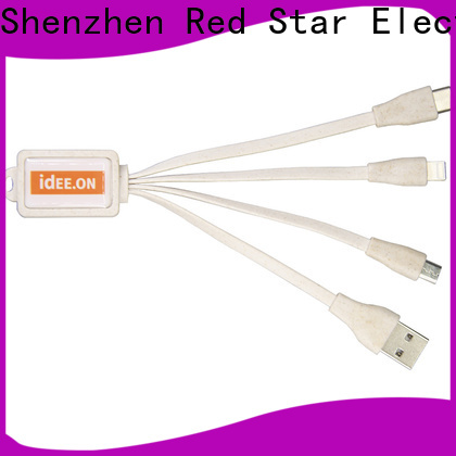 Red Star eco usb charger with custom logo for sale