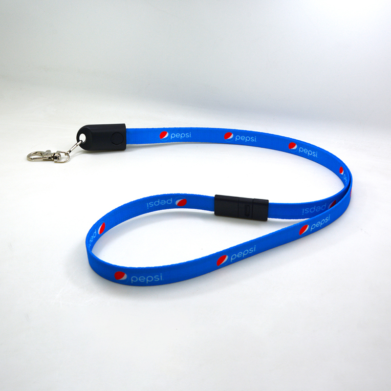 Lanyard Charging Cable with Safety Buckle for iphone and Android
