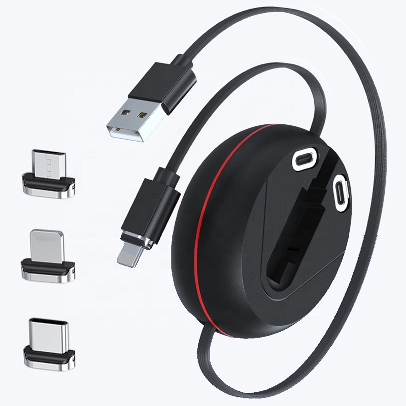 3 in 1 Retractable Magnetic Charging Cable