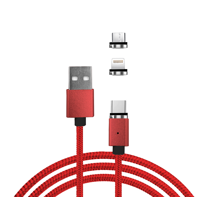 Magnetic Nylon Braided Cable for Android IPhone Type C
