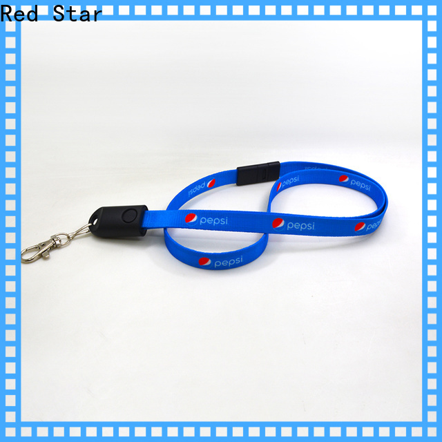 Red Star charging cable lanyard manufacturers for sale