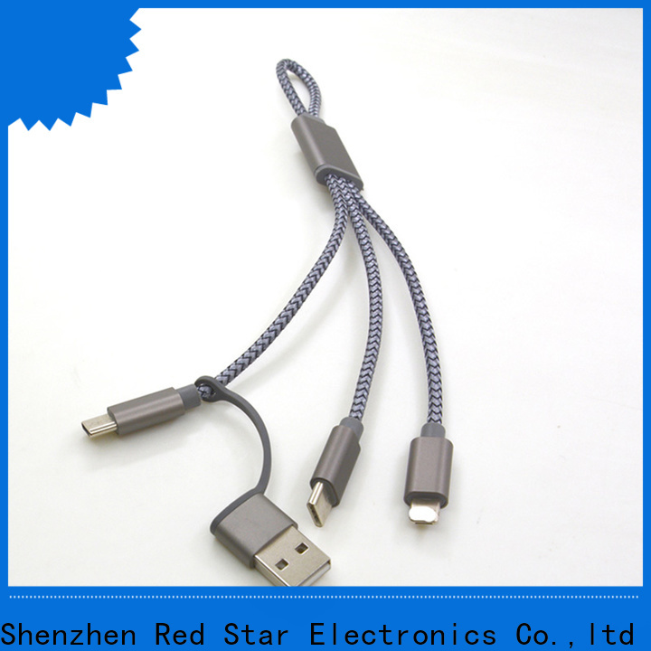 Red Star braided charging cable company for sale