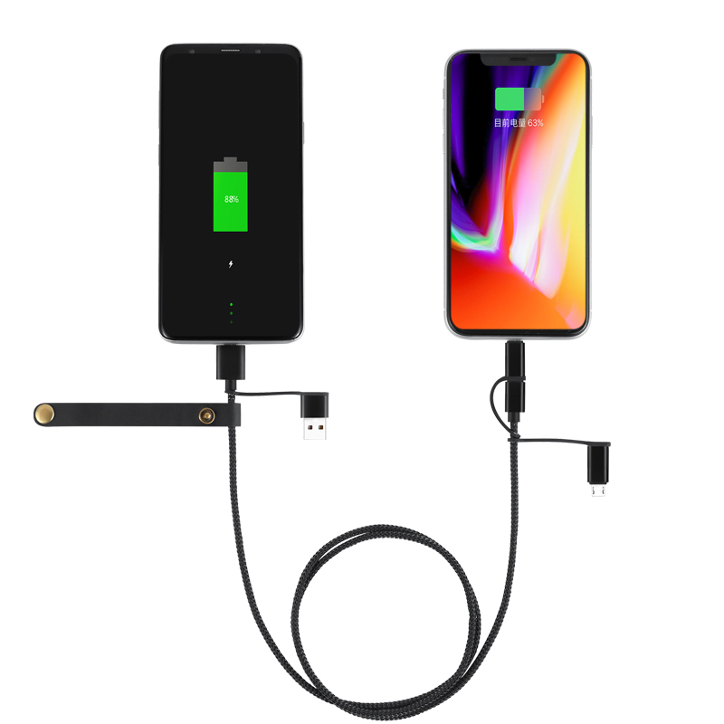 Fast charging 6 in 1 MICRO TYPEC  IPHONE DATA CABLE
