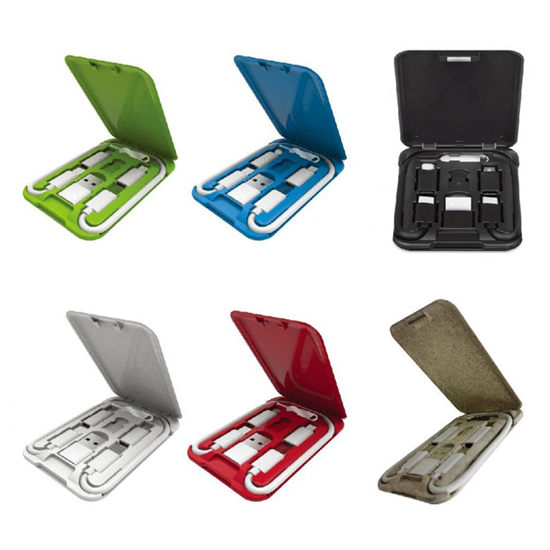 Phone Stand Multi Cable Kits 5 in 1 Adapter Box