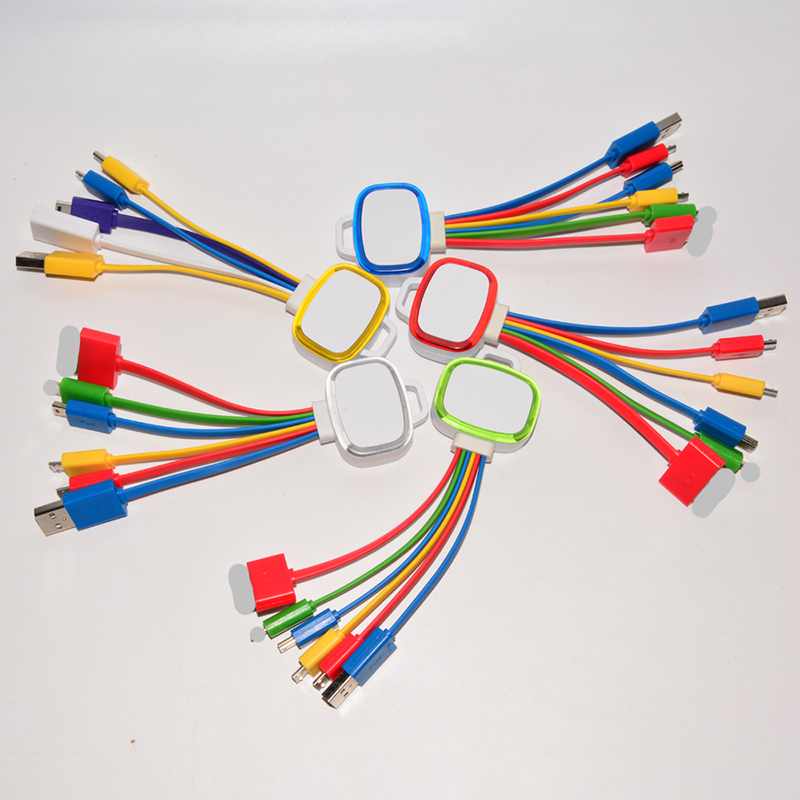 Multi LED 6 in 1 Charger Cable for Promotional Gift