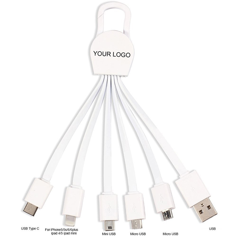 Promo Key Chain 6 in 1 Multi Charger Cable