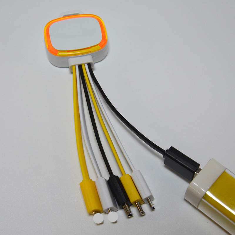 TPE Multiple Charger Cable with LED Light