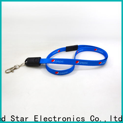 Red Star plastic lanyard charger cable supply for phone