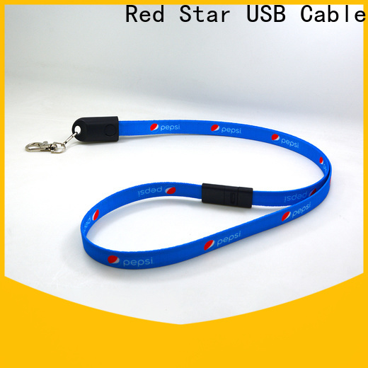 Red Star lanyard data cable with safety lock for phone