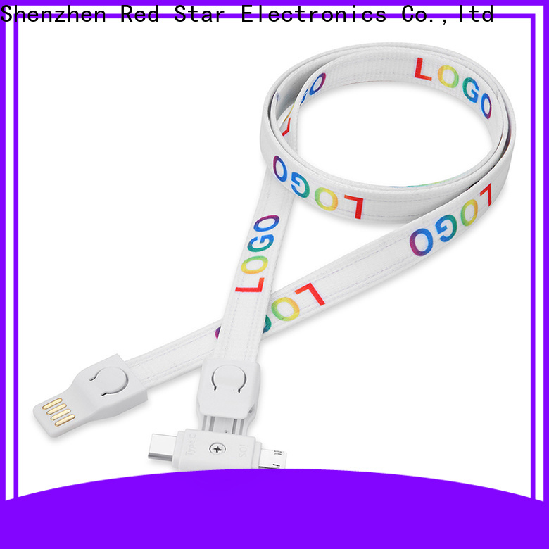 Red Star lanyard data cable suppliers for sale