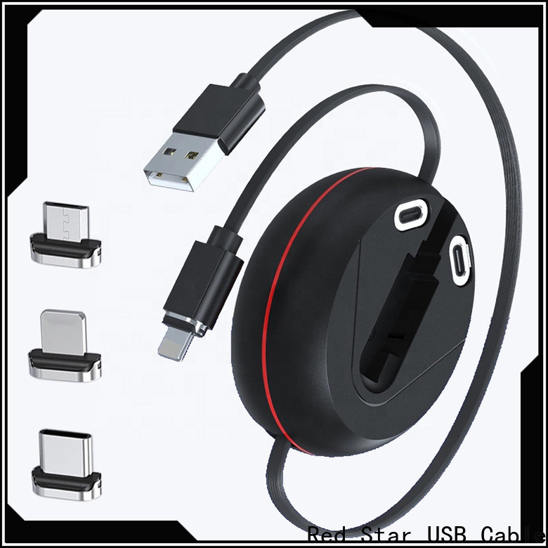 Red Star popular magnetic usb cable supply for sale
