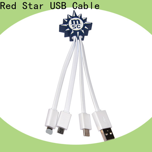 Red Star best multi usb cable with custom logo for sale