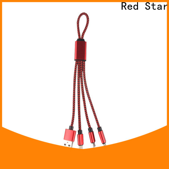 Red Star keychain multiple usb cable travel kits for phone