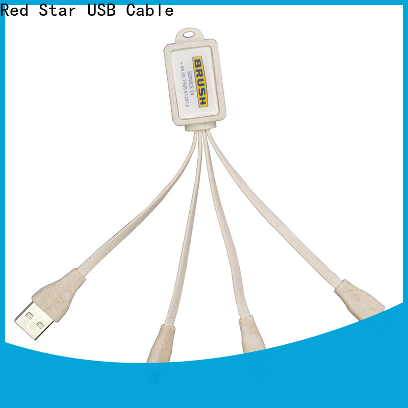 Red Star eco-friendly charging cable supply for business