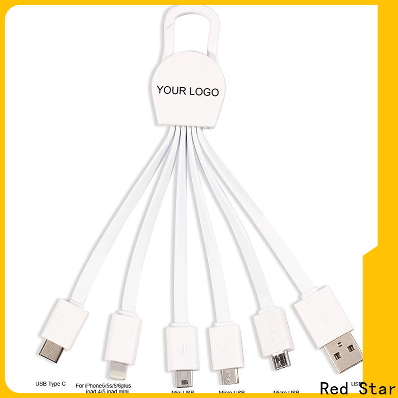 Red Star multi end charging cable travel kits for business
